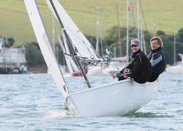 Jon Turner and Richard Parslow racing at Salcombe