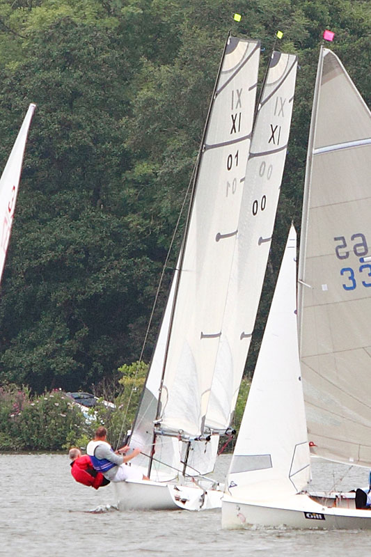 Close racing at Wroxham