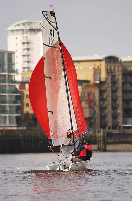 Spinnaker reaching on Thames